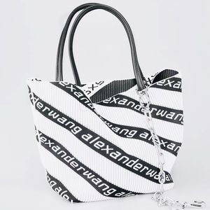 Alexander Wang Roxy Logo Knit Tote with chains